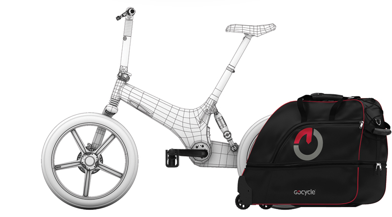 Gocycle G2 con travel pack